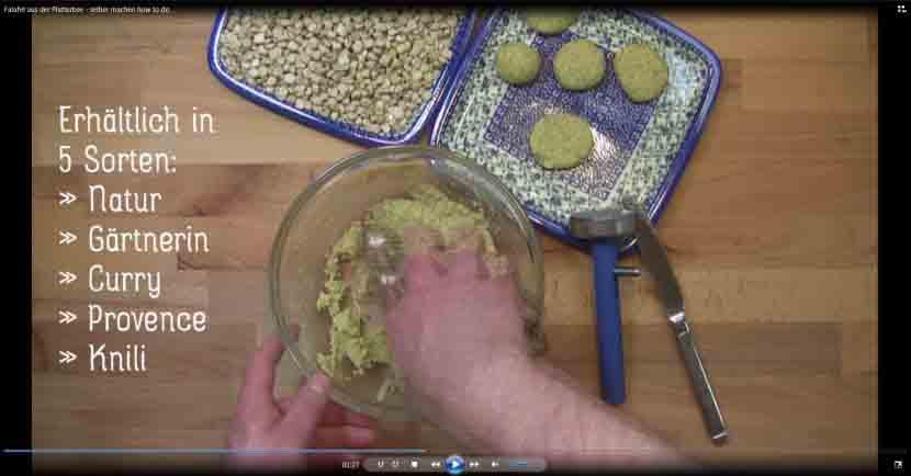 Video Zubereitung Falafel aus der Platterbse