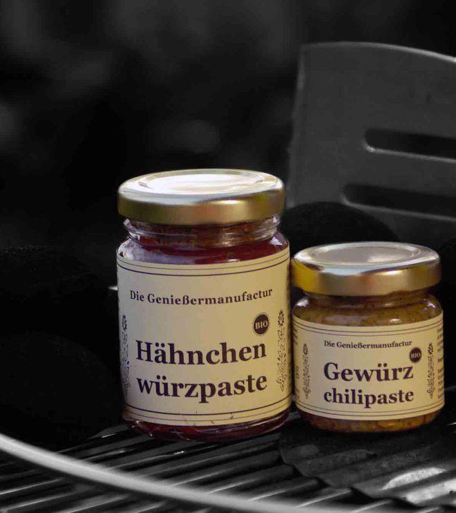 Grill-Duo Grillgewürz Hähnchenwürzpaste und Gewürzchilipaste
