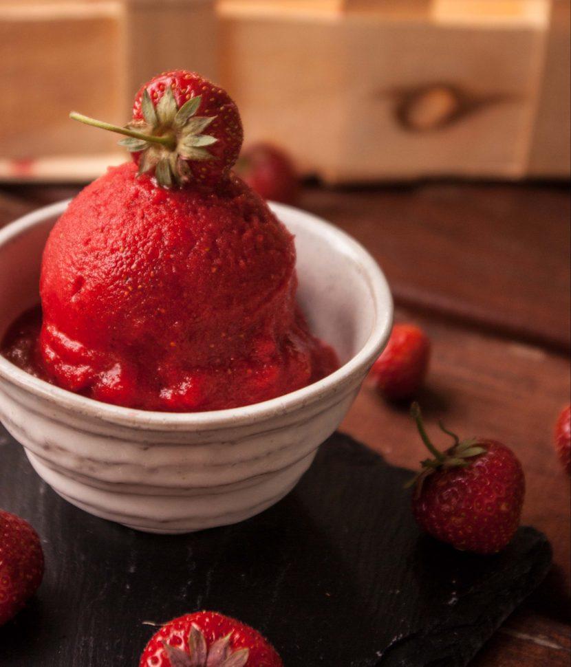 Erdbeersorbet - einfach & schnell