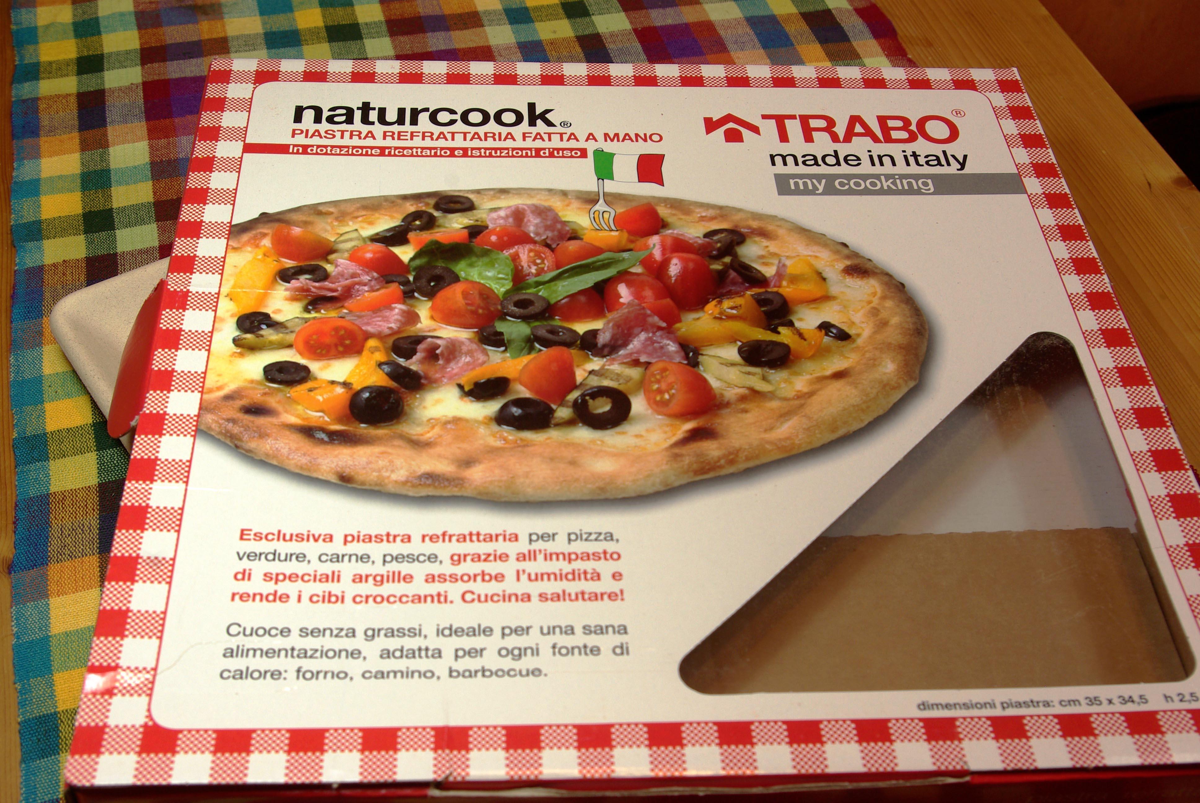 Im Test: Pizzastein, Pizzaplatte, Backplatte - Naturcook von Trabo