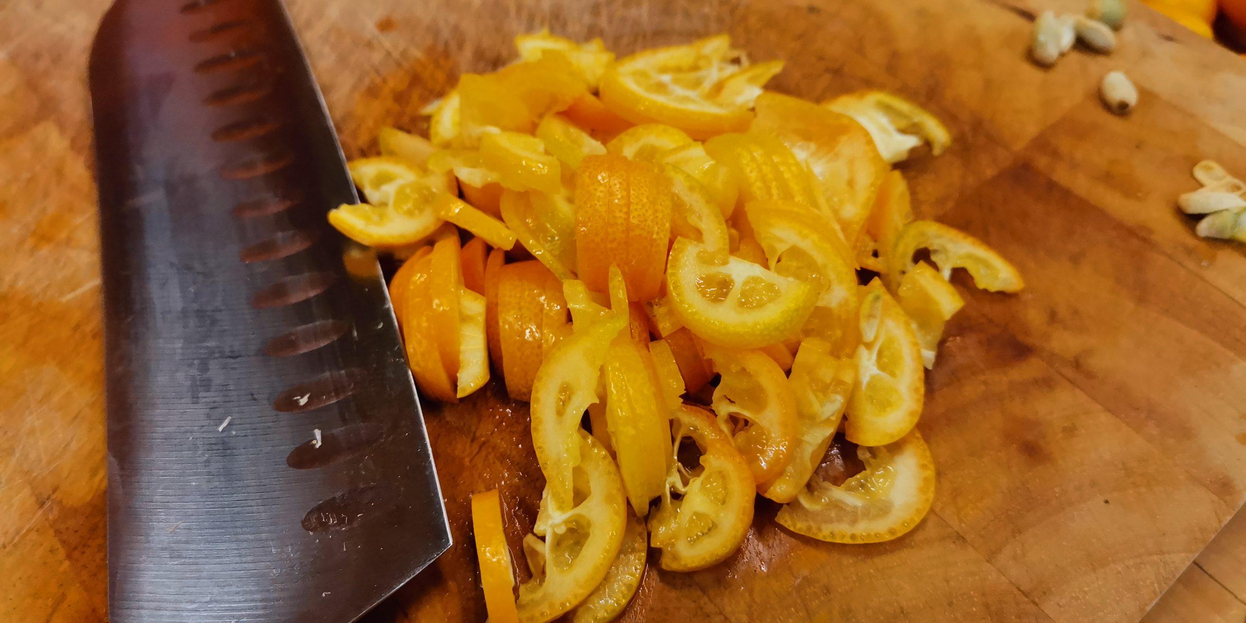 Marmelade aus Kumquat und Bergamotte-Zitronen