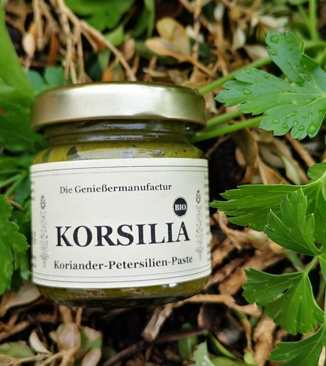 Koriander-Petersilienpaste bio