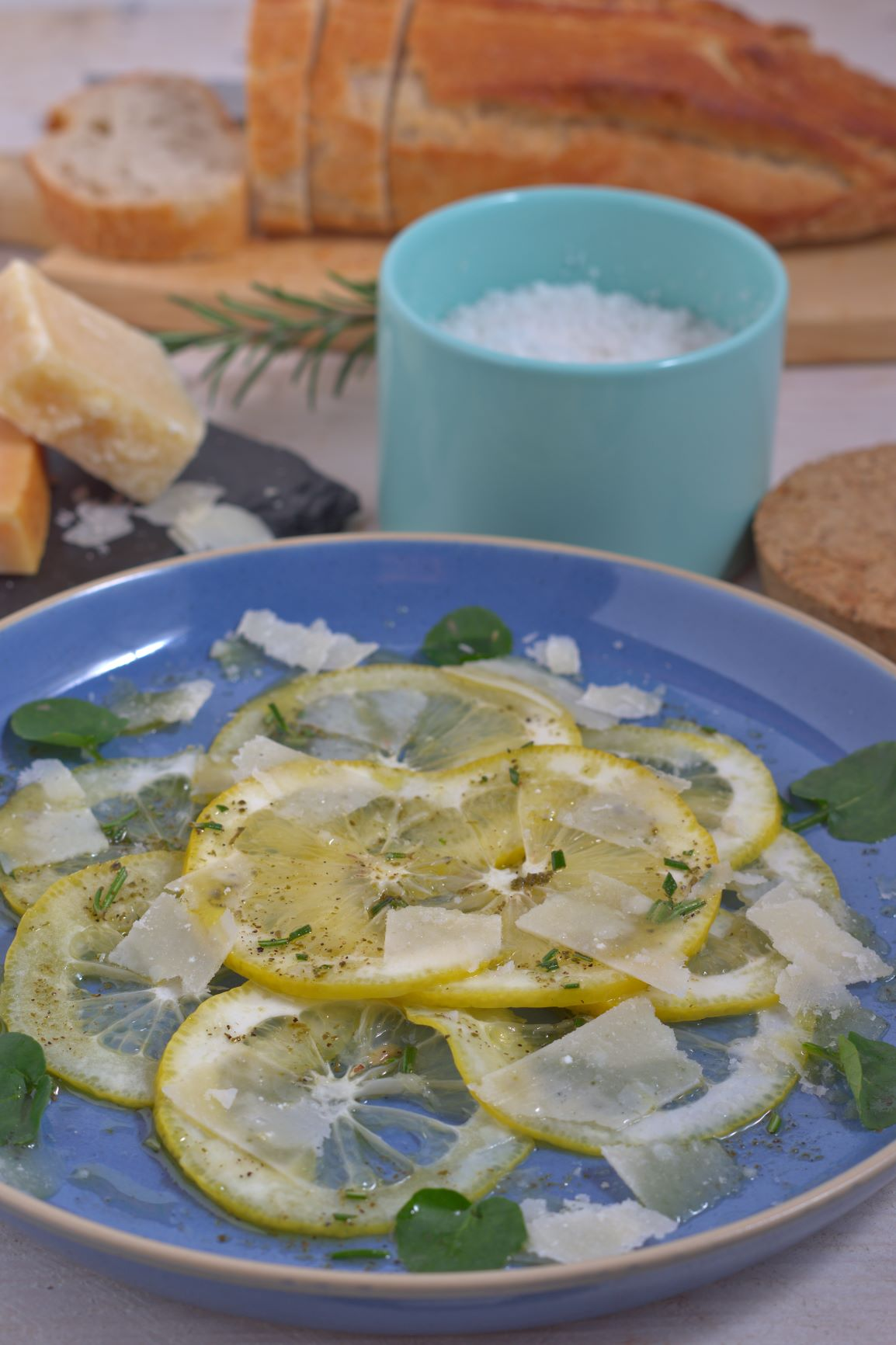 Zitronencarpaccio mit sizilianischen Zitronen