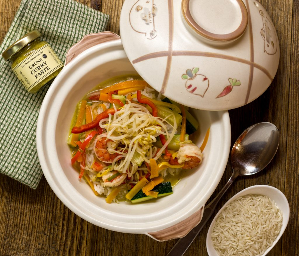 Garnelencurry mit Gemüse